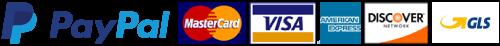 Pagamenti Accettati - Paypal e Carte di Credito